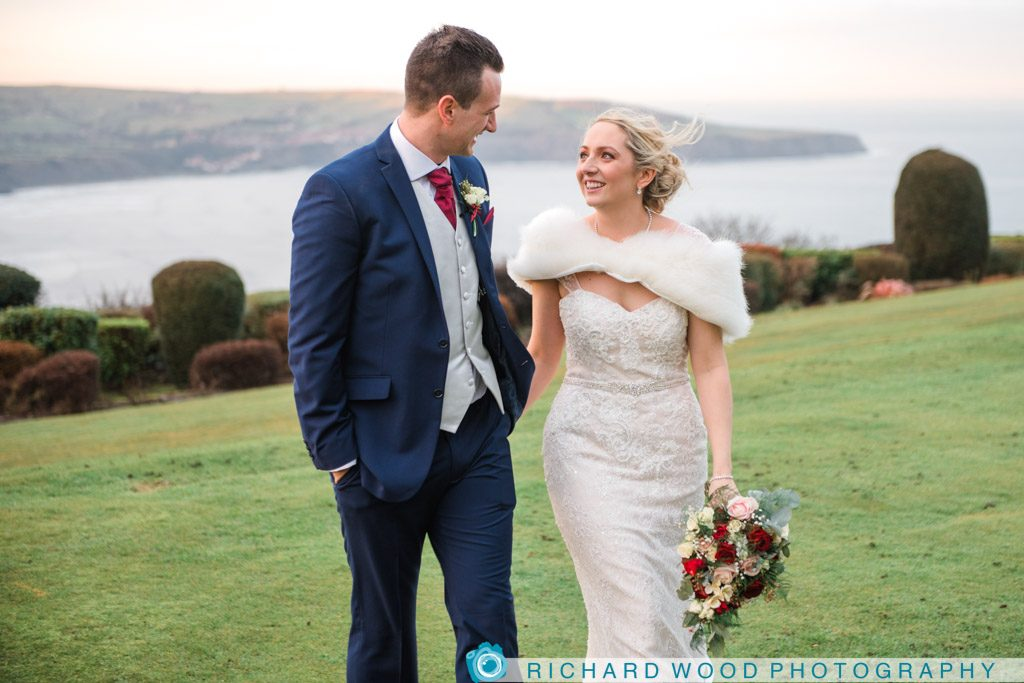 wedding photographers Raven Hall Whitby North Yorkshire